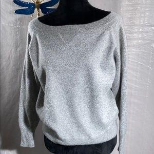 J crew cashmere grey boat neck sweater